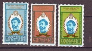 J22337 Jlstamps 1970 ethiopia set mh #569-71 emperor