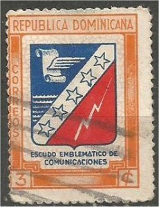 DOMINICANA,  1945, used 3c , Municipal, Scott 417