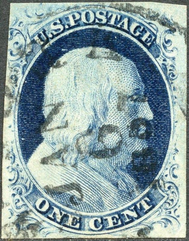 #9 VF USED WITH NEW YORK DATE CANCEL, JAN.6,1857 CV $110.00 BP3026