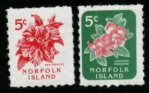 NORFOLK ISLAND SG600/1 1995 FLOWER MNH