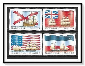 Marshall Islands #191-194 Colonial Ships & Flags Set MNH