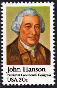 SC#1941 20¢ John Hanson: President Continental Congress Single (1981) MNH
