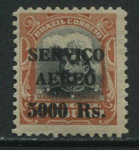 Brazil 1927 overprinted Airmail 5000 reis mint o.g. hinged