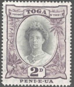TONGA  Scott 75 MH* 1942 wmk 4