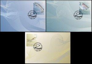 Croatia. 2009. Croatian fauna: Croatian Fish (Mint) Set of 3 Maxi Cards