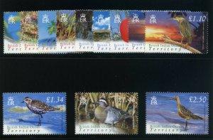 B.I.O.T. 2004 QEII Birds set complete superb MNH. SG 296-307. Sc 274-285.