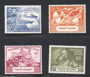 British Virgin Islands Sc 92-5 1949 UPU stamp set mint