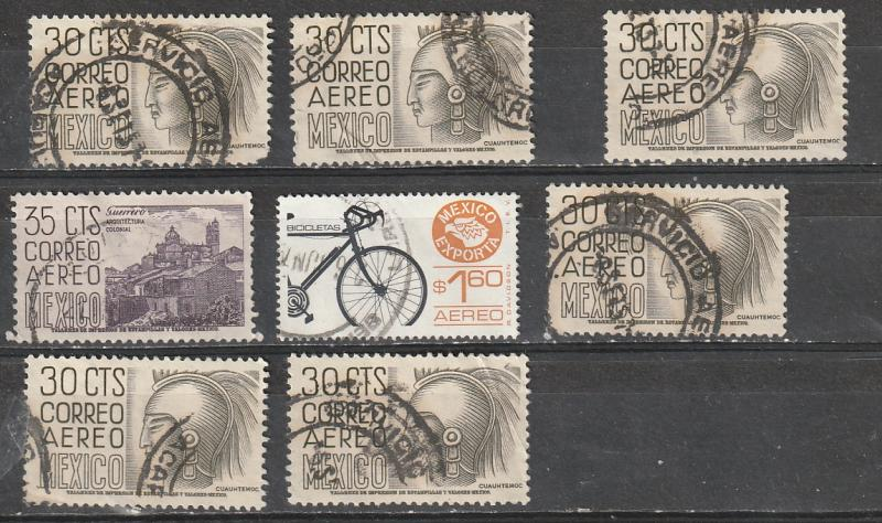 Mexico Used Air Mail Lot 1