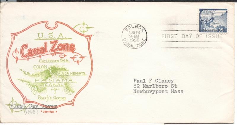 CZ#C31 on First Day Cover - Color Map Cachet