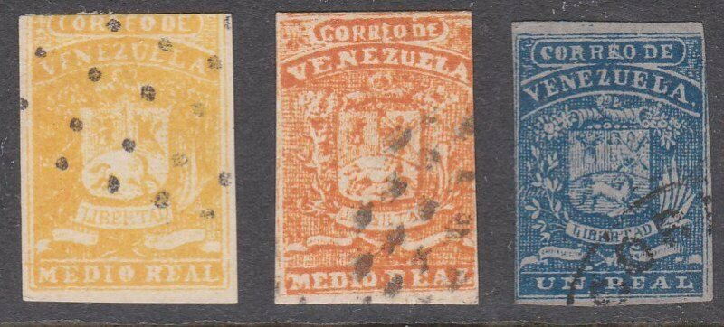 VENEZUELA  An old forgery of a classic stamP - 3 different value............D810