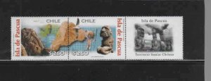 CHILE #1361  2001  EASTER ISLAND      MINT VF NH  O.G  PAIR