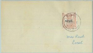 83407 - NIUE   - POSTAL HISTORY -   Stanley Gibbons # 86 FADED on COVER  1948