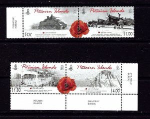 Pitcairn Is 703-04 MNH 2010 Anzac Day