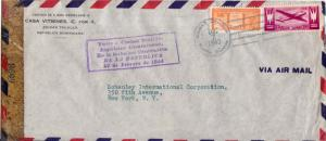 Dominican Republic 3c Emblems of Political Parties and 10c Plane 1943 Ciudad ...