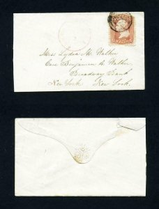 # 65 on cover from Pawtucket, Rhode Island to New York, New York - 6-18-1860's