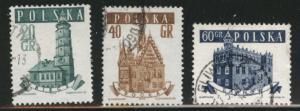 Poland Scott 805-807  Used short set