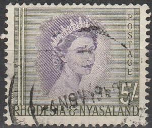 Rhodesia & Nyasaland  #153 F-VF Used CV $8.00  (V584)