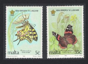 Malta Butterflies 2v SG#949-50