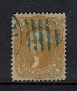 USA #67a Very Fine Used With Trivial Flaws & Blue Duplex Cancel **Certificate**
