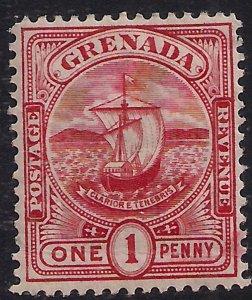 Grenada 1906 KEV11 1d Carmine MM SG 78 ( L322 )