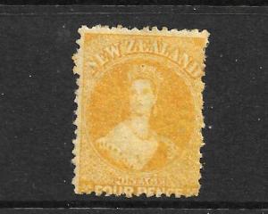 NEW ZEALAND 1865  4d  YELLOW   FFQ  MNH  P12 1/2  CP A4B2   SG 120 CHALON