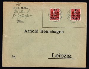 GERMANY STAMP BAVARIA BAYERN COVER WITH SEAL