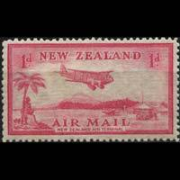 NEW ZEALAND 1935 - Scott# C6 Airfield 1p LH