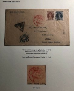 1940 Patiala India Censored Cover To Buitenzorg Netherlands Indies