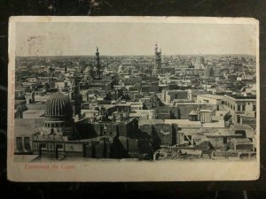 1909 Penang Straits Settlements RPPC Postcard Cover To Glasgow Cairo Panorama