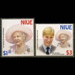NIUE 2000 - Scott# 746-7 Queen Mother Set of 2 NH