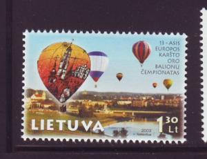 Lithuania Sc 750 2003 Hot Air Balloons stamp mint NH