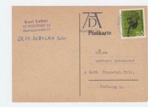 Germany Nurnberg 1970 Gandhi Special postmark  stamps  card  R21012