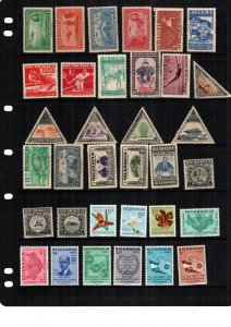 Nicaragua  mint hinged and used  lot of 34