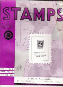Stamps Weekly Magazine of Philately January 20, 1934 Stamp Collecting Magazine