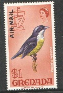1972   GRENADA -  SG: 513 - BANANA QUIT - $1 AIRMAIL - UNMOUNTED MINT