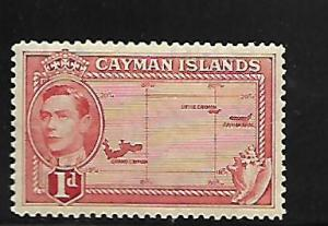 CAYMAN ISLANDS, 102, MINT HINGED, MAP OF ISLANDS