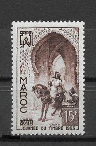 French Morocco 1953, Post Rider, Stamp Day, Scott # 288,VF MNH** (FR-1)