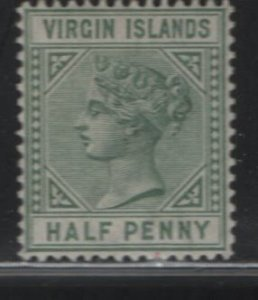 VIRGIN ISLANDS, 13, NO GUM, 1883-84, Queen Victoria