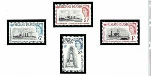 Falkland Is 150-53 MNH 1964 50th Anniv of Battle of Falkland is