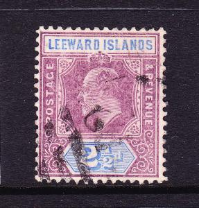 LEEWARD ISLANDS 1905-08  2 1/2d   KEVII    FU  SG 32