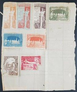 Belgium Brussels 1897 & Later International Exposition Poster Stamps/Cinderellas