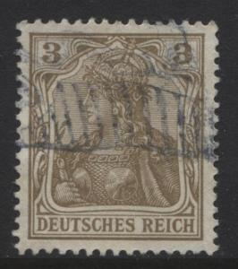 GERMANY. -Scott 66- Definitives -1902 - Used - Brown - Single 3pf Stamp1
