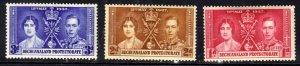 Bechanaland 1937 KGV1 Set Coronation MM SG 115 - 117 ( C1497 )