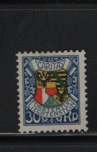LIECHTENSTEIN B6 Hinged, Thin,  1927 Coat of Arms