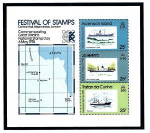 Tristan da Cunha MNH 1976 Festival of Stamps S/S