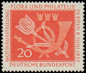 Germany #764, Complete Set, 1957, Flowers, Stamp Show, Never Hinged