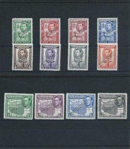SOMALILAND 1938 SET OF TWELVE PERF SPECIMEN MM SG 93s/104s CAT £350