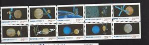 United States, 2568-77, Space Exploration Bklt Pn(10), MNH