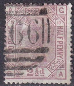 Great Britain #67 Plate 10  F-VF Used  CV $75.00 (SU7466)