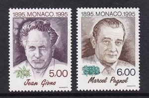 Monaco  #1946-1947    MNH  1995  writers